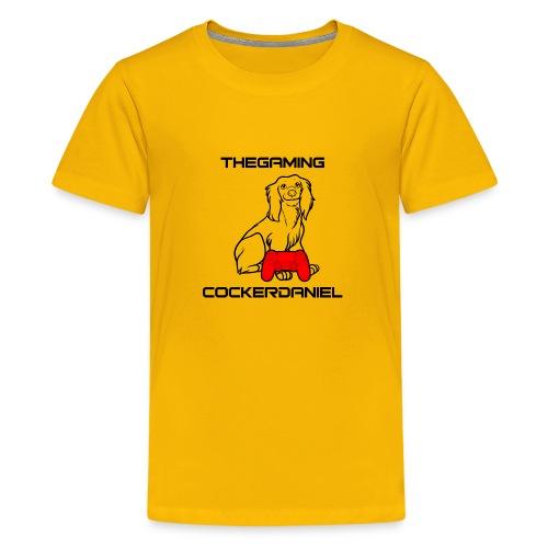 The Gaming Cockerdaniel - Teenage Premium T-Shirt