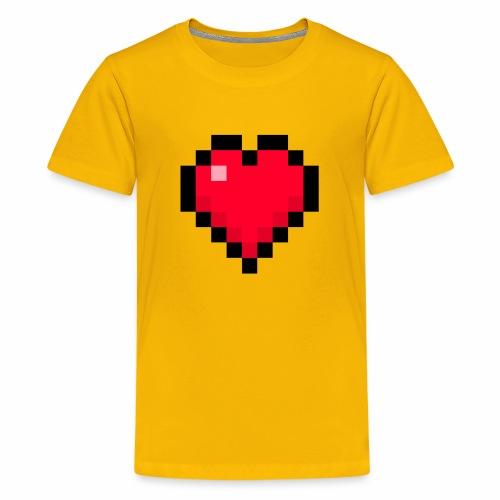 Cuore di pixel - Maglietta Premium per ragazzi