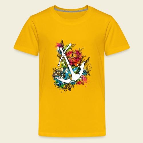Echte Anker haben Kurven - Teenager Premium T-Shirt