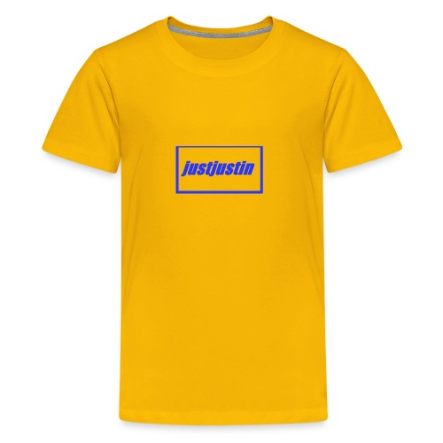 justjustin cap - Teenage Premium T-Shirt
