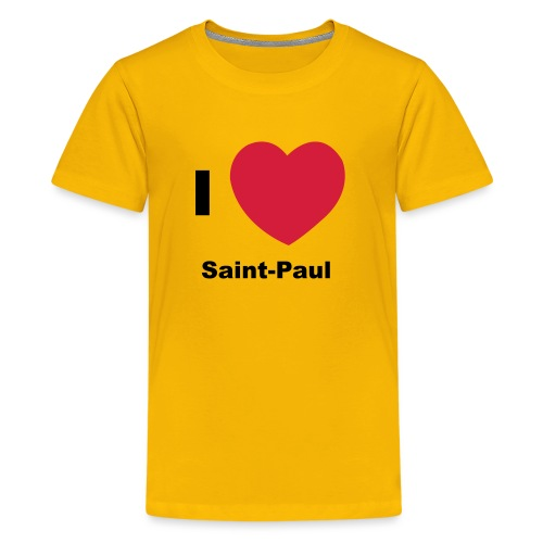 i love sainte paul - T-shirt Premium Ado