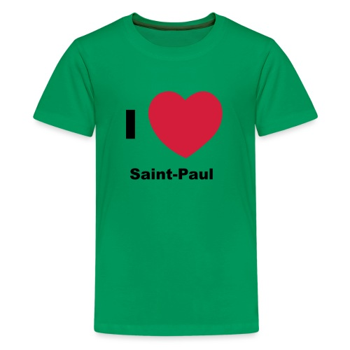 i love sainte paul - T-shirt Premium Ado