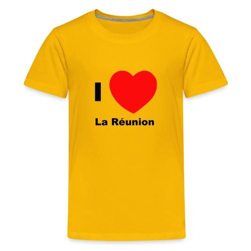 i love la réunion - T-shirt Premium Ado