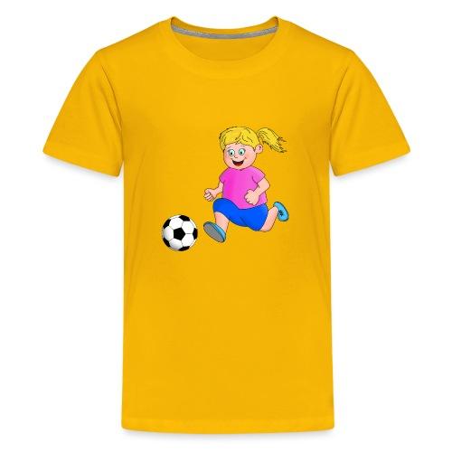 Fußball Mädchen - Teenager Premium T-Shirt