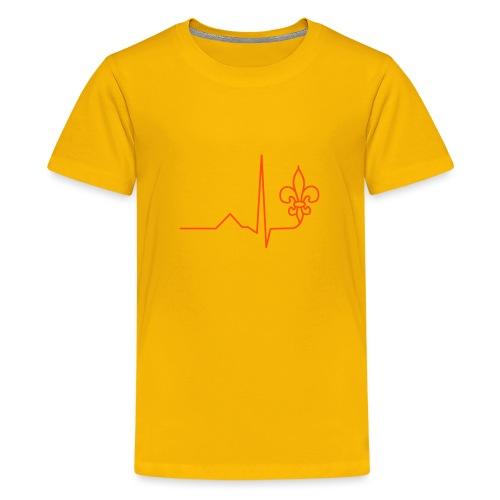 Scouts Heartbeat - Teenage Premium T-Shirt