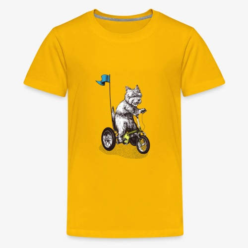 West Highland Terrier Tricycle - Teenage Premium T-Shirt