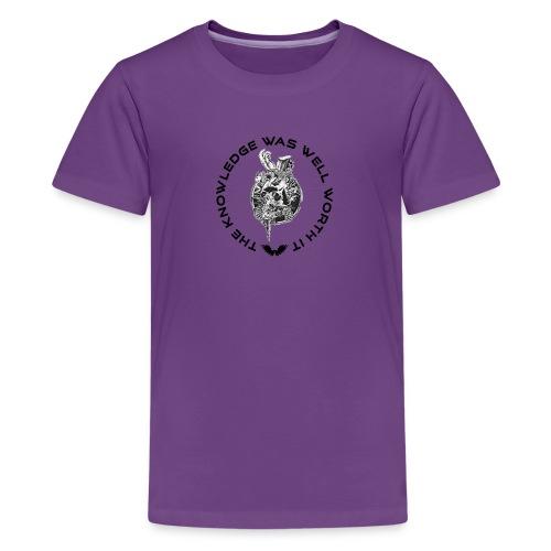 Knowledge WhiteSkull - Teinien premium t-paita