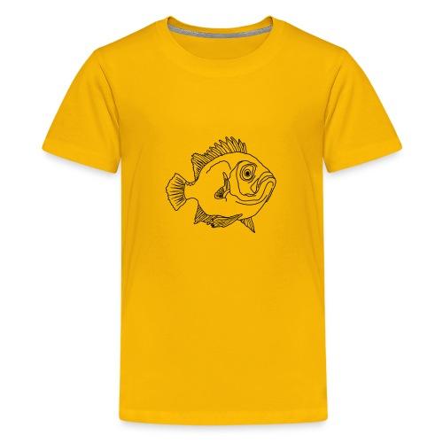 Fisch Barsch Ozean Meer Wasser Aquarium Angeln - Teenager Premium T-Shirt