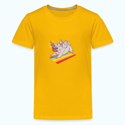 Unicorn Pug Limited Edition - Teenage Premium T-Shirt