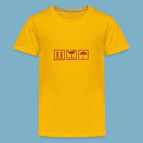 Zerbrechlich - Teenager Premium T-Shirt