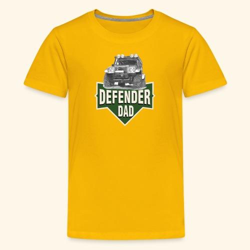 DAD defender LAND-ROVER GIFT - Teenager Premium T-Shirt