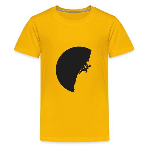Klettrerin in schwarz - Teenager Premium T-Shirt