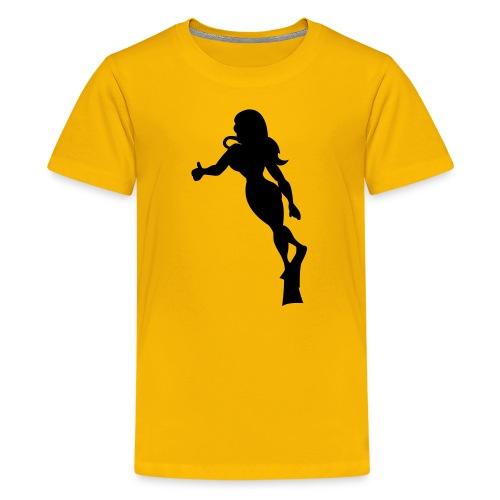 taucherin Plottmotiv - Teenager Premium T-Shirt