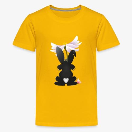 Hasensilhouette - Teenager Premium T-Shirt