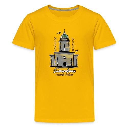 SUOMENLINNAN MAJAKKA KIRKKO Majakkatuotteet shop - Teinien premium t-paita