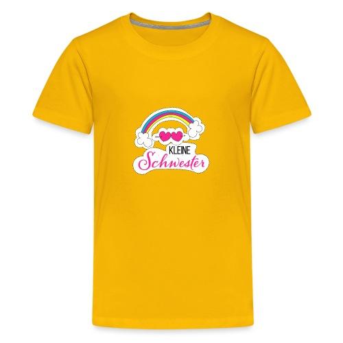 Kleine Schwester Regenbogen - Teenager Premium T-Shirt