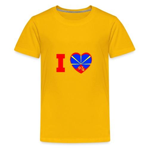 I love 974 - Lo Mahaveli - T-shirt Premium Ado