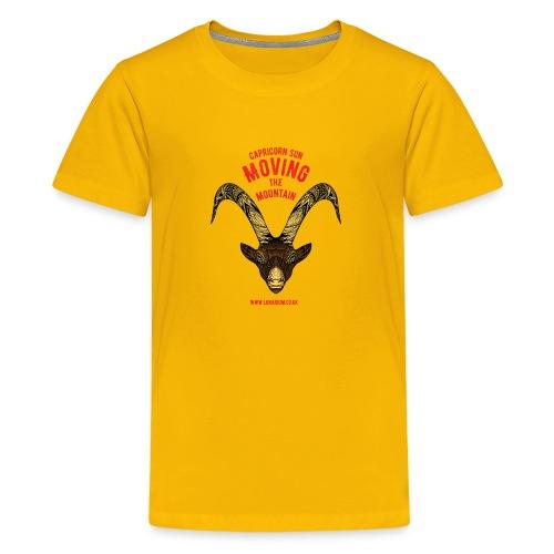 Capricorn Sun Bright - Teenage Premium T-Shirt