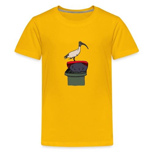 Xmas Bin Chicken - Teenage Premium T-Shirt