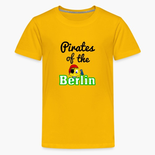 Pirates of the Berlin (schriftzug schwarz) - Teenager Premium T-Shirt