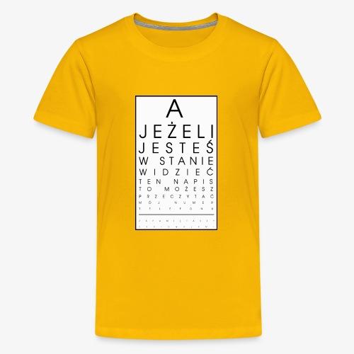 Badanie wzroku - Koszulka młodzieżowa Premium