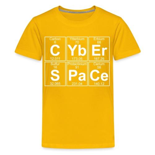 C-Yb-Er-S-Pa-Ce (cyberspace) - Full - Teenage Premium T-Shirt