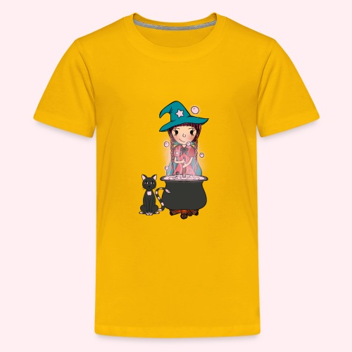 Witch Penelope and cat - Teenager Premium T-Shirt