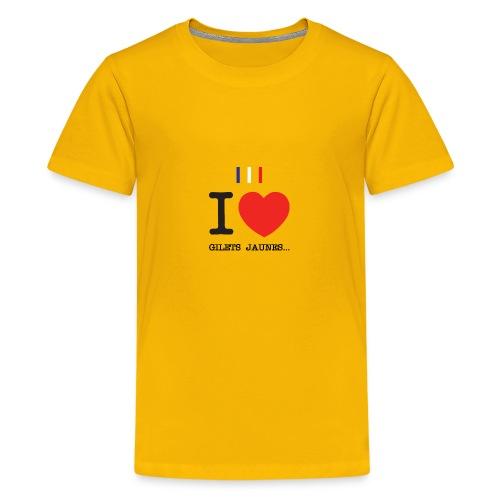 giletsjaunes - T-shirt Premium Ado