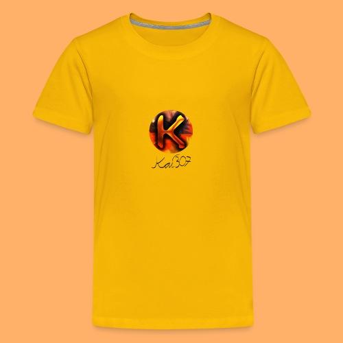 Kai_307 - Profilbild + Unterschrift Schwarz - Teenager Premium T-Shirt