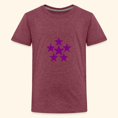 5 STAR lilla - Teenager Premium T-Shirt