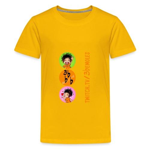 Camiseta (Be circulos) - Camiseta premium adolescente