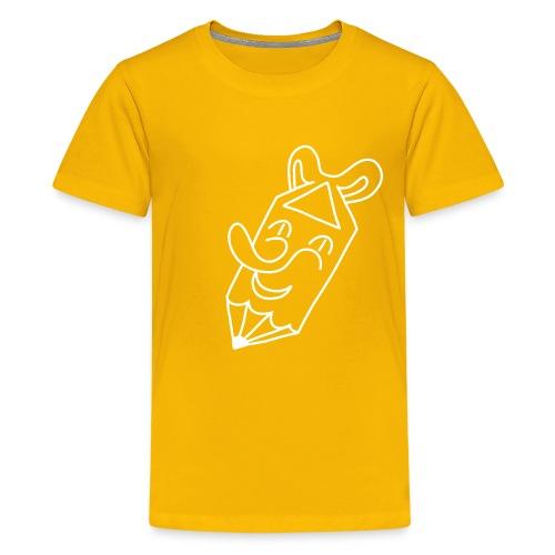 Der kleine lachende Stift, weiss - Teenager Premium T-Shirt