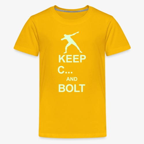 Keep calm and... Bolt - Teenage Premium T-Shirt