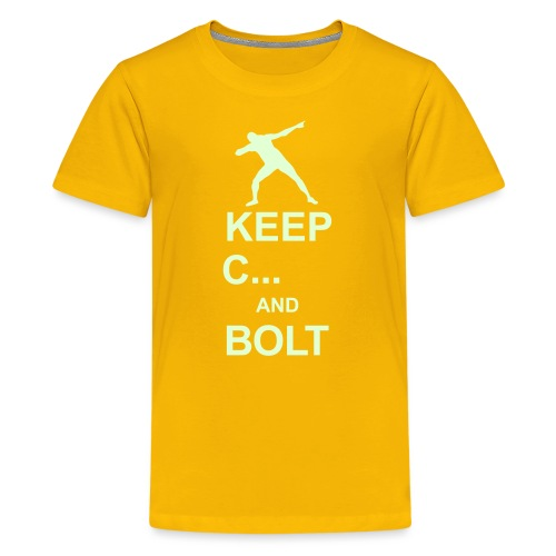 Keep Calm And... Bolt 2c - Teenage Premium T-Shirt