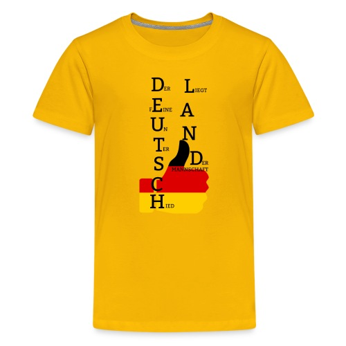 Deutsche Flagge mit Daumen 2 (Exklusives Design) - Teenager Premium T-Shirt