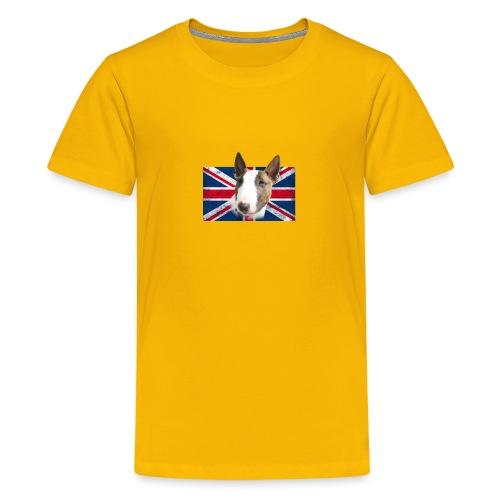 Bullterrier UK grunge Flag - Teenager Premium T-Shirt