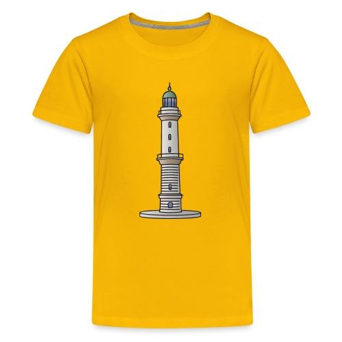 Leuchtturm Warnemünde Rostock c - Teenager Premium T-Shirt