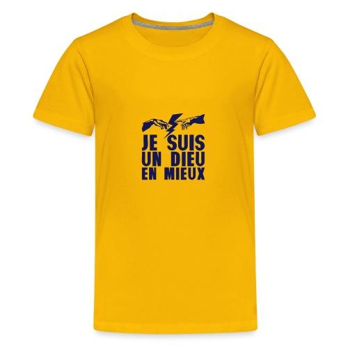 je suis un dieu en_mieux_main_eclair - T-shirt Premium Ado