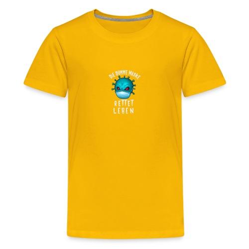 dumme Maske - Teenager Premium T-Shirt
