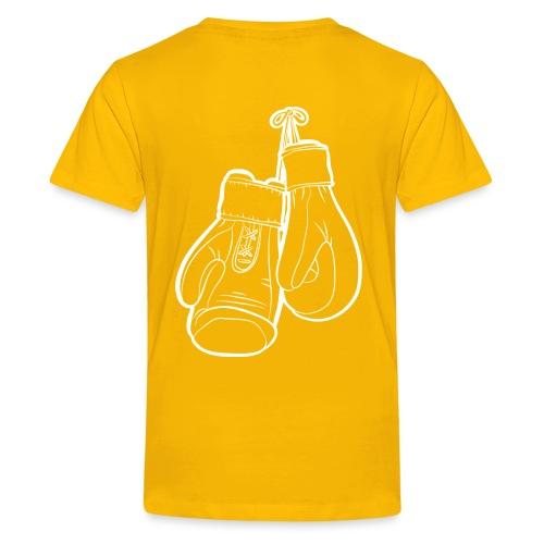 Handschuhe weiß - Teenager Premium T-Shirt