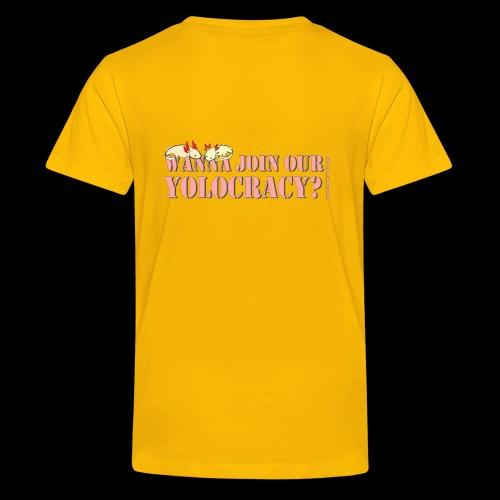 Axolotl v1 3 text - Teenager Premium T-Shirt