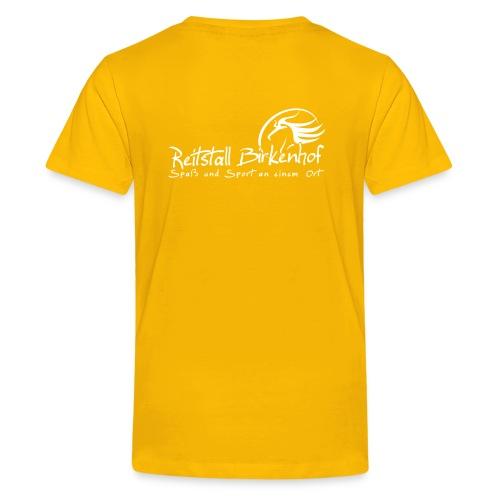 Schriftzug mit Logo - Teenager Premium T-Shirt