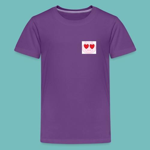 cerdito enamorado - Camiseta premium adolescente