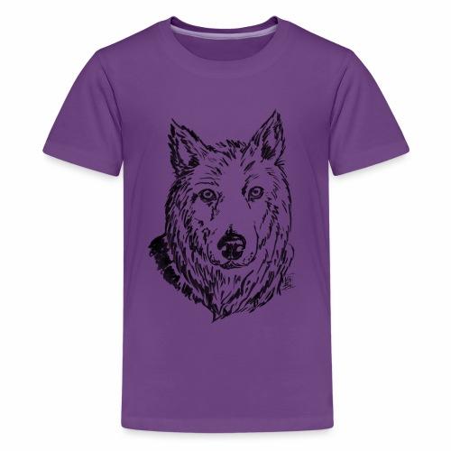 Il lupo - Maglietta Premium per ragazzi