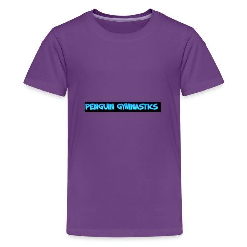 The gymnastics penguin - Teenage Premium T-Shirt