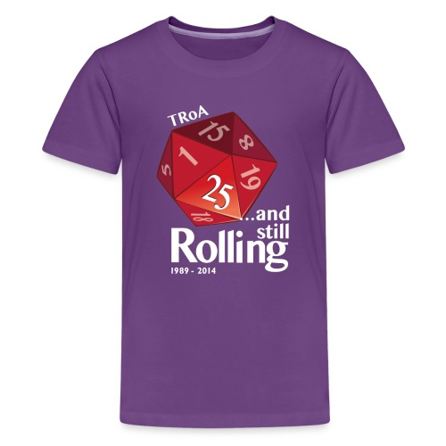 TRoA 25 år - Rød terning - Teenager premium T-shirt