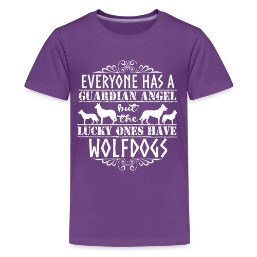Wolfdog Angels - Teinien premium t-paita