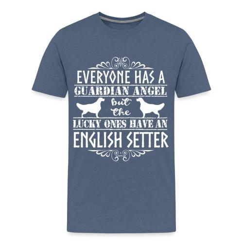 English Setter Angels - Teinien premium t-paita