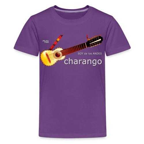 De los ANDES - Charango II - Camiseta premium adolescente