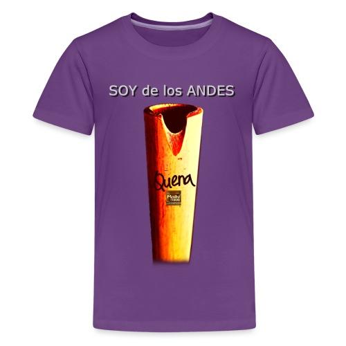 De los ANDES - Quena II - Camiseta premium adolescente